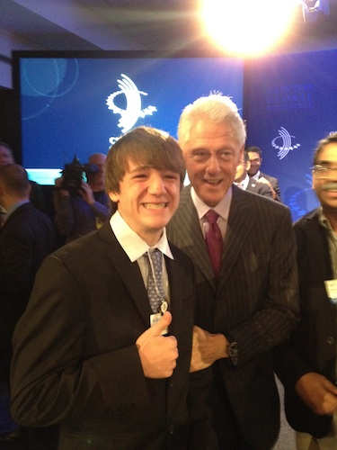 Jack with Mr. Clinton.