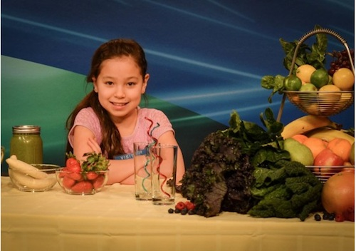 Amber thinks eating healthy is totally cool, and all of us at Amazing Kids! think so too!