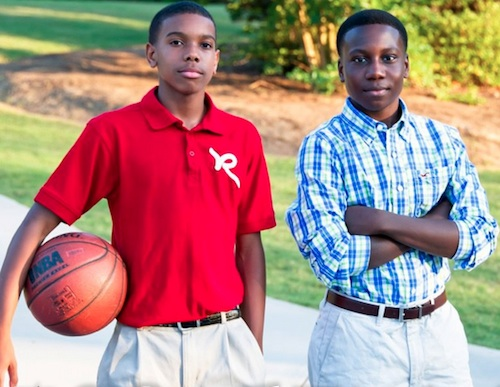 Brandon (right) and Jordan (left) started Making Money for Teens to help educate other kids financially.