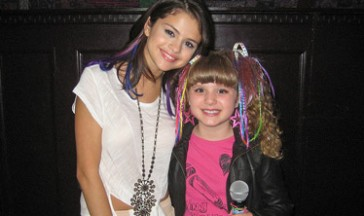 Piper Reese with Selena Gomez!