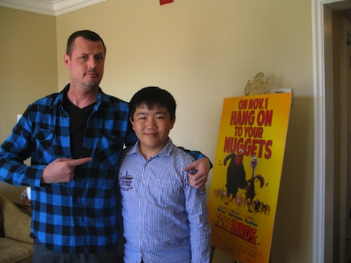 Perry Chen with director Jimmy Hayward at Free Birds press junket (photo by Zhu Shen)