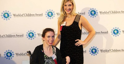 Chaeli and Sarah attended the awards ceremony on Nov. 7, 2013 in New York City where they were both the World of Children Youth Awards.