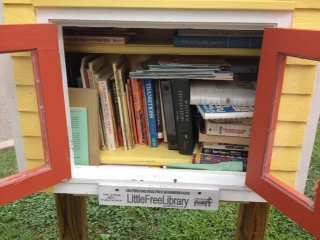 The Little Free Library allows children and adults to take a book (no library card needed) and to stock the library up with books they no longer use. Is this something you could adapt for your hometown? We would love to see our readers create mini libraries like this to help promote a love of literature.