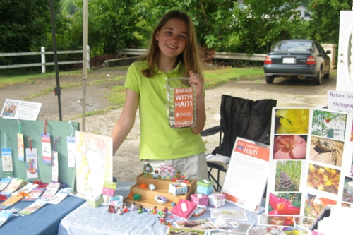 To raise money Erin has been using her passions of art, photography, and music to create products to sell at her local farmers market. Awesome work Erin!
