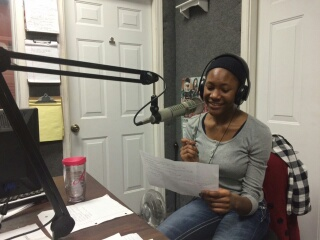 Ahdis at her recording studio where she passionately speaks to her listeners.