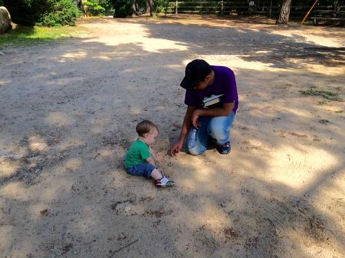Kid's Play: During free time, I played for a while with my teacher's son