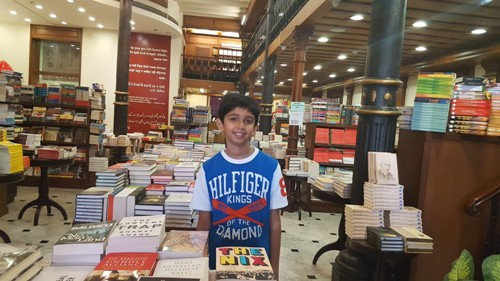 02 AK Columns, Global Village, Kitab Khana, Full Library