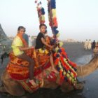 Traditional Animals Riding at Karachi Beaches